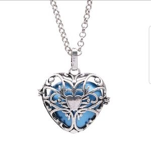 Jewelry - Hollow out love heart angel caller necklace